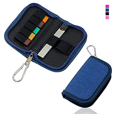 Carrying Case Wallet Holder for JUUL and Other Popular Vapes | Holds Vape, Pods and Charger | Fits in Pockets or Bags(Blue): Home Audio & Theater