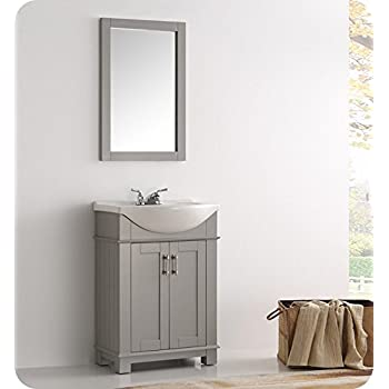 SMALL BATHROOM VANITY CABINET AND SINK WHITE - PE1612W NEW