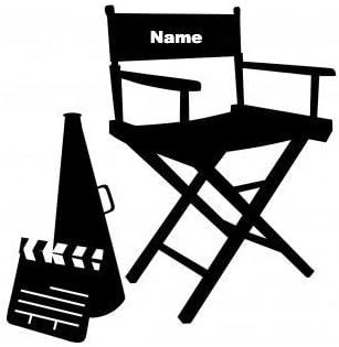 Sedia Da Regista Con Nome.Sedia Regista Colore Personalizzato Con Il Tuo Nome Nero Vinile