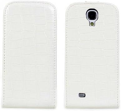 Webkaufhaus24 4204001 - Funda para Samsung S4 (imitación a piel de cocodrilo), color blanco: Amazon.es: Electrónica