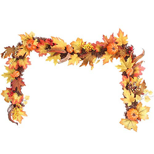 Halloween Party Event Description (Mayunn Pumpkin Maple Leaves Garland, 1.7m LEDs Lighted Fall Autumn Halloween Thanksgiving Decor Decorative for Party, Holiday Events, Home, Outdoor)
