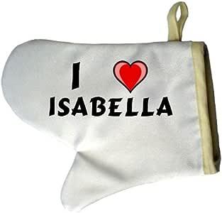 Guante de horno personalizado (un par) con nombre: Isabella (First ...