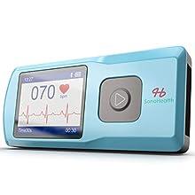 SonoHealth Portable EKG Heart Rate Monitor | Wireless Handheld Home ECG Cardio & Electrocardiogram Machine | Biofeedback Finger & Chest Leads View Irregular Cardiac Arrhythmia Vitals on a Mobile Phone