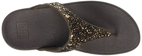 Fitflop C62, Sandalias T-bar Mujer Marrón (Bronze Glitter)