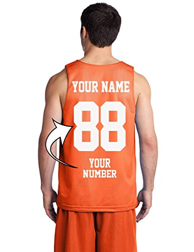 Custom Basketball Tank Tops for Youth - Make Your OWN Jersey - Team Uniforms Deep Orange