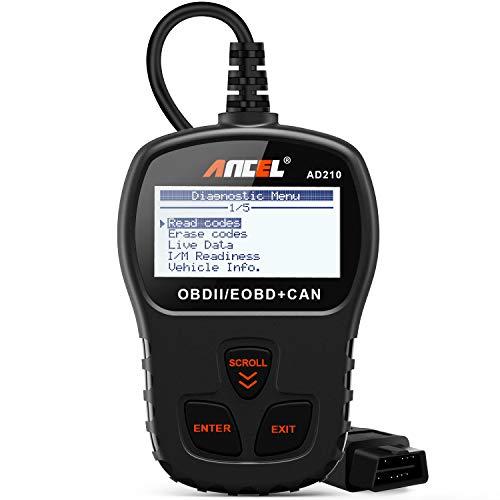 ANCEL AD210 OBD II Car Code Reader Automotive Vehicle OBD2 Scanner Diagnostic Scan Tool – Black