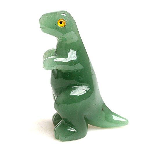 Hand Carved Green Aventurine Gemstone Dinosaurs Animal Figurine Sculpture, 2.4 inches (Gemstone Sculpture)