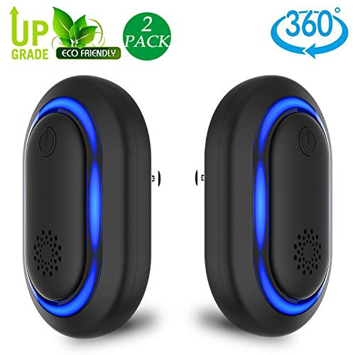 Eradream Ultrasonic Pest Repeller, Pest Repeller Plug in for Pest Reject, 2019 Newest Electronic Rodent Repellent Indoor Use for Bug Spider Ant Mice Roach Other Insects(2 Pack) (pest Control)