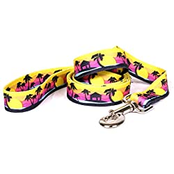 "Yellow Dog Design Palm Tree Island Dog Leash, Large-1"" Wide and 5' (60"") Long"