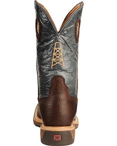 Vridna X För Män Lite Cowboy Stålhätta Work Cognac / Blå