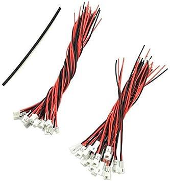 YUNIQUE ESPANA 40 Conectores JST Micro Pico 1,25 mm 2 Pines Macho + 20 Hembra con Cable 80/100mm: Amazon.es: Juguetes y juegos