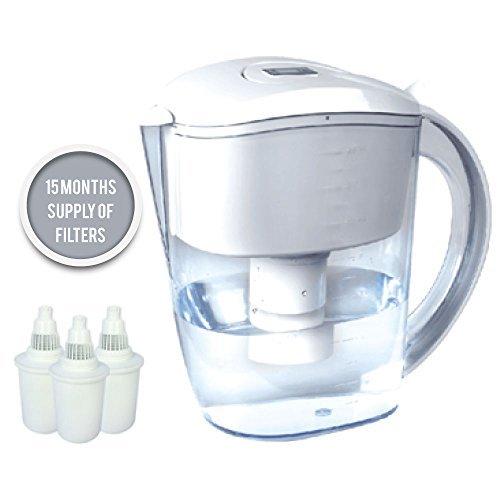 BUKO Alkaline Water Jug 3.5 Liter, Pure Healthy Water Ionizer, 3 Filter...