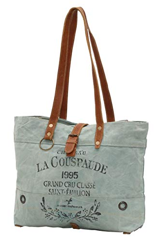 Myra Bags La Couspaude Upcycled Canvas Tote Bag M-0814