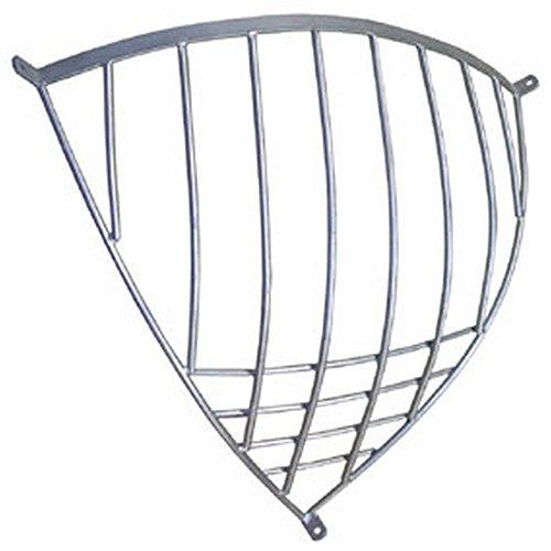StableKit Heavy Duty Traditional Corner Hay Rack (One Size) (Silver) by StableKit
