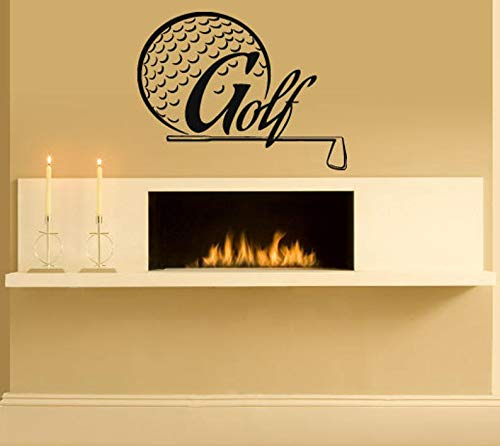 BYRON HOYLE Wall Decal Sticker Bedroom Golf Sport Logo Ball Clubs putters Irons Woods 038b