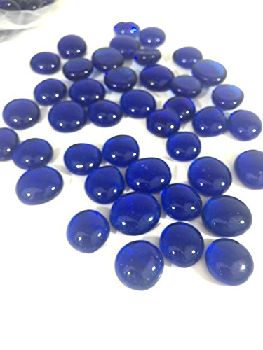 Easythru trading Flat Glass Marbles Vase Filler 30 Pounds, 2700 PCs (Royal Blue) (Blue For Vases Marbles)