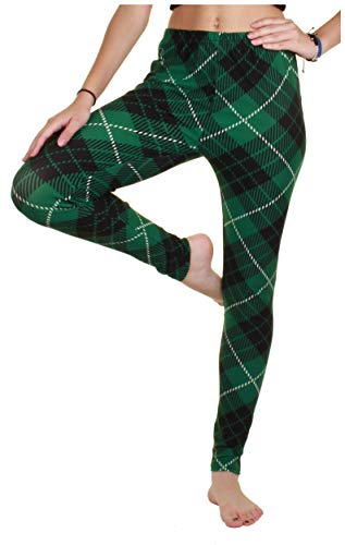 (Gilbin High Waist Halloween,Valentine's Day,ST. Patrick's Comfy, Fun, Stretchy Leggings Tights (Large X-Large, St Patrick Off)