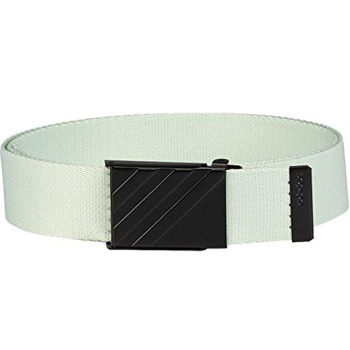 (adidas Golf 2018 Mens 3 Stripe Webbing Belt Aero Green One Size)