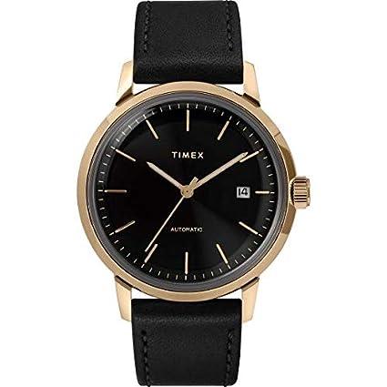 efaa42555fa3 Reloj Timex Automático colección Marlin Caja Gold Oro 40 mm de diámetro de  Hombre garantía Italia 2 años  Amazon.es  Relojes