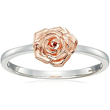 Amazon 14k rose gold flower ring with white gold ring size 8 14k rose gold flower ring with white gold ring size 8 mightylinksfo
