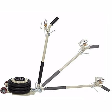 INTBUYING Triple Bag Air Jack 3 Ton(6600lbs)Multi Angle Height Pneumatic Lift Car Repair Inflatable Bladder Jack-Folding Rod