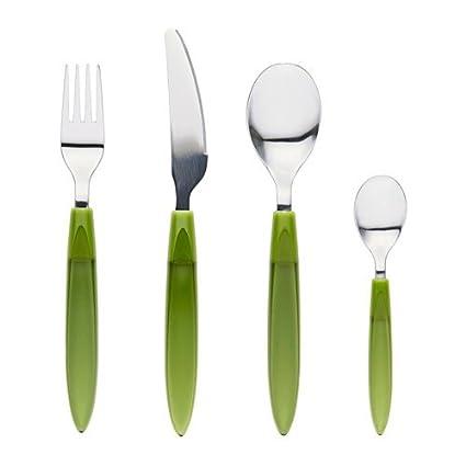 Ikea Dedo Juego de Cubiertos 24 Piezas, Verde