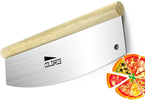 Nylon Wooden Sword (COLIBRIE Cutter Wheel Sharp-Blade High Premium Quality,It's a Knife For Pizza And Vegetable...It's a Knife For All Kinds Of Food-Big Or Small,Soft Or Dry.Because You Finally Find Perfect Pizza Cutter)