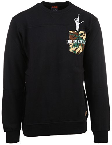 Line Skis Two Lives Crew Sweatshirt (XL, Black) Line Ski Clothing