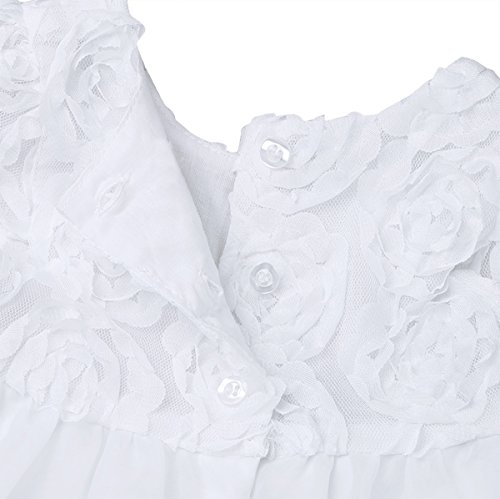 Amazon.com: Freebily Infant Baby Flower Girl Dress Baptism Christening Gown Party Wedding Dress (3-6Months): Clothing