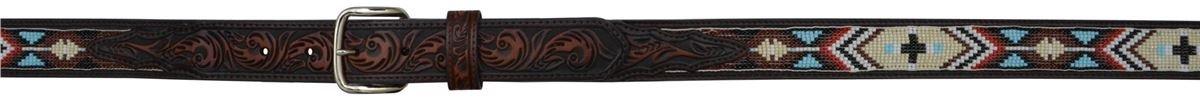 3D 1 1/4'' Dark Brown Boys' Western Fashion Belt