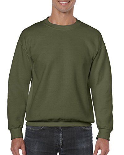 Gildan Men's Heavy Blend Crewneck Sweatshirt - XX-Large - Military (Heavy Green)
