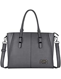 Laptop Bag, Large Capacity Women Tote Bag Briefcase with Padded Compartment for 15.6 Inch Tablet/Computer (Gray)