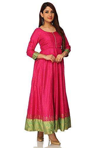 BIBA Pink Anarkali Viscose Kurta34 by Biba (Image #1)