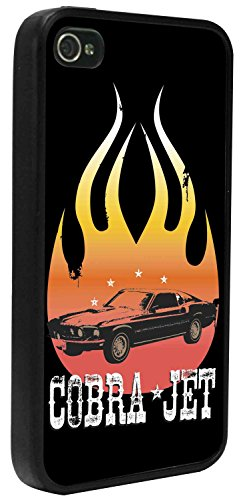 - Buckle-Down Cell Phone Case - 1968 COBRA JET Mustang Flame Black/Orange/White - iPhone6 Plus