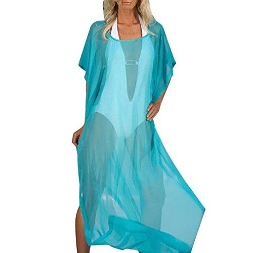 Swimwear Beach Dress, Rakkiss Women Sexy Bikini Cover Up Swimsuit Swimwear Beach Shirt Dress Bathing Suit (Blue, 2XL) from Rakkiss_Vintage Dress