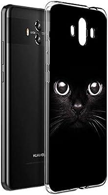 Eouine Funda Huawei Mate 10, Cárcasa Silicona 3D Transparente con ...