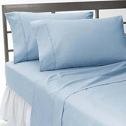 UHCBeddings Unique Hotel Collection 600 Thread-Count Pillows for sleeping 2 pack Queen size, Super Luxury Soft Pillow Cases, Many Color & Size options - (20''x30'', Light Blue) - By