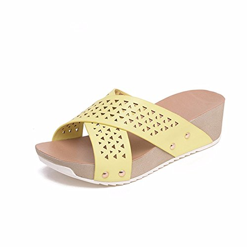 rivetto sandali bagno estivi scarpe leisure scarpa piscina ciabatte fashion white punta YMFIE antiscivolo Onorevoli da x5WpOnX