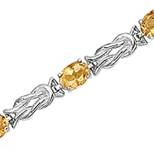 14K Yellow/White Gold 5 ct. Citrine Bracelet