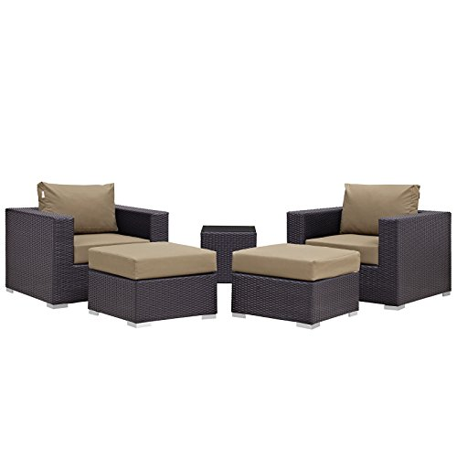 Modway Convene 5 Piece Furniture Espresso At A Glance