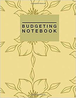 budgeting notebook gold floral design personal money management