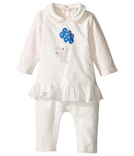 Armani Junior Baby Girls' Polka Dot Flutter Frog Footie (Infant), Bianco Latte, 1 - Armani Young