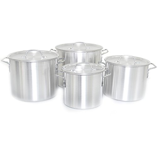 Cajun Classic 4-Piece Aluminum Stock Pot Set - GL10176