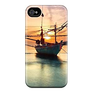 Iphone 4/4s Case Cover Boat At Sunset Case - Eco-friendly Packaging