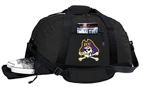 Broad Bay NCAA East Carolina University Duffel Bag - ECU Gym Bags w/Shoe Pocket