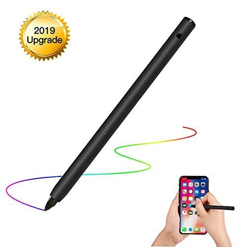 [해외]아이폰아이 패드삼성표면안 드 로이드 터치 스크린 스마트폰 태블릿 노트북 (블랙)에 대 한 정확한 쓰기그리기에 대 한 조정 가능한 미세 팁 충전식 액티브 스타일러스 디지털 펜 / Rechargeable Active Stylus Digital Pen with Adjustable Fine Ti...