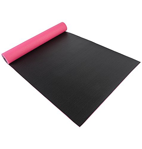 Enjoee PVC Premium Two Layers Yoga Mat With Textured non-slip Pink