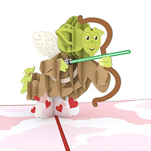 Star Wars Yoda Cupid Pop Up Card, 3D Card, Valentine's Day Card, Greeting -