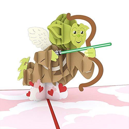 Star Wars Yoda Cupid Pop Up Card, 3D Card, Valentine's Day Card, Greeting Card
