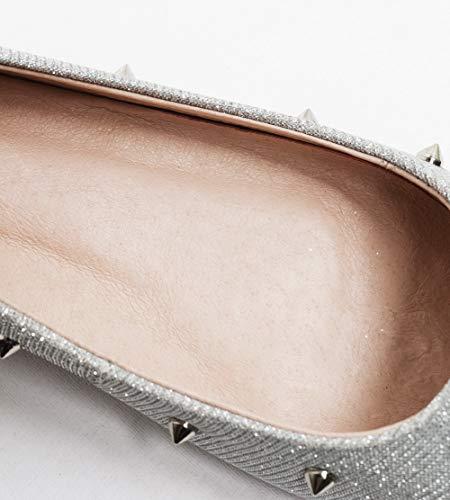 36 Compensées Sandales Argenté BalaMasa Silver 5 APL11014 EU Femme xPpwqqOY